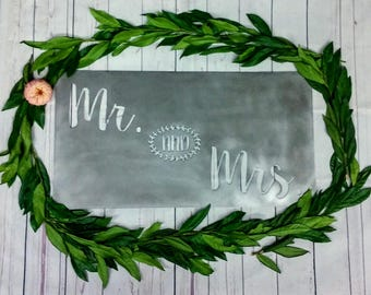 Mr and Mrs Metal Wedding Sign- wedding shower gift- bridal shower gift
