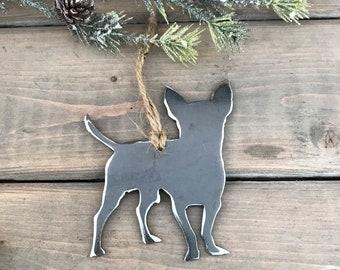 Chihuahua Ornament,  Pet Lover, Metal Dog Christmas Ornament ,Pet Loss Dog Memorial, Pet Remembrance, Pet Lover Memorial Ornament