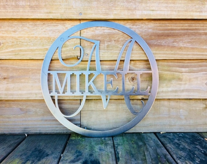 Featured listing image: 15 Inch Monogrammed Sign