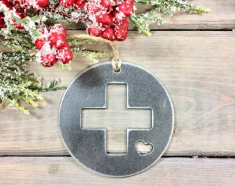 Medical services Metal Christmas Ornament, Christmas Decor, Rustic Christmas,unique christmas gifts, christmas idea under 10, medical love