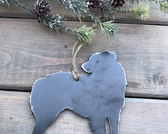 Australian Shepherd Ornament,  Pet Lover, Metal Dog Christmas Ornament ,Pet Loss Dog Memorial, Pet Remembrance, Pet Lover Memorial Ornament