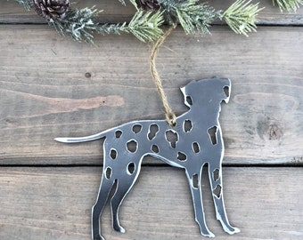Dalmatian Dog Ornament,  Pet Lover, Metal Dog Christmas Ornament ,Pet Loss Dog Memorial, Pet Remembrance, Pet Lover Memorial Ornament