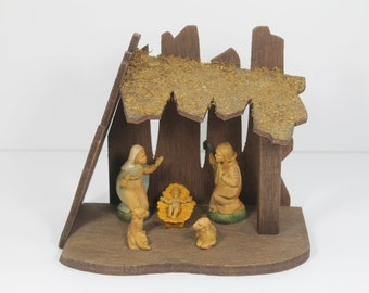 Antique Bronze Charm Christmas Nativity Scene pack of 5