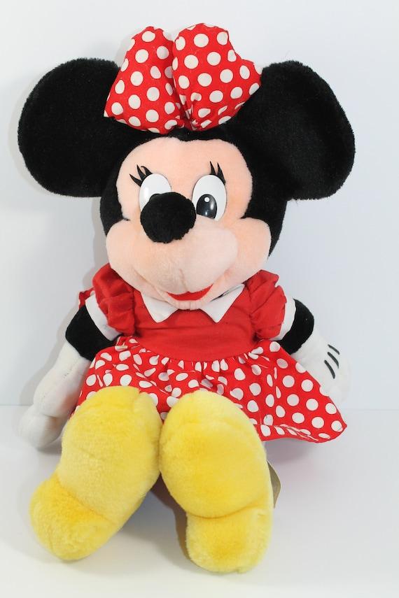 Vintage Minnie Mouse Plush Disneyland Disney World Stuffed Toy Etsy
