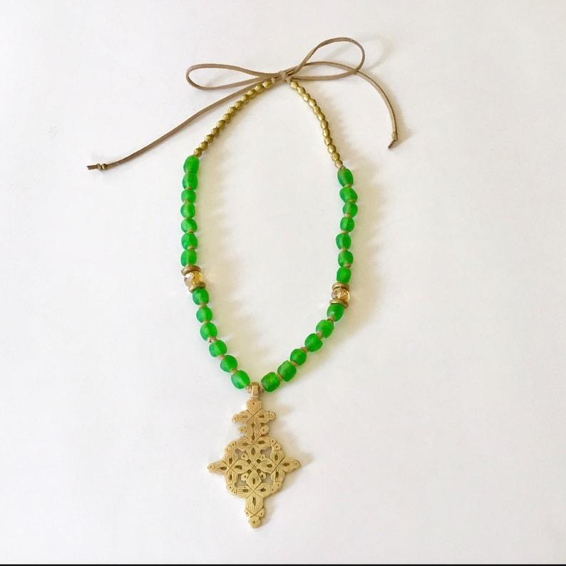African Jewelry Ethiopian NecklaceCoptic Cross NecklaceBeaded NecklaceAfrican NecklaceEthiopian JewelryBoho Necklace