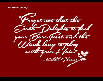 Kahlil Gibran Quote - Wall Words - Vinyl Lettering