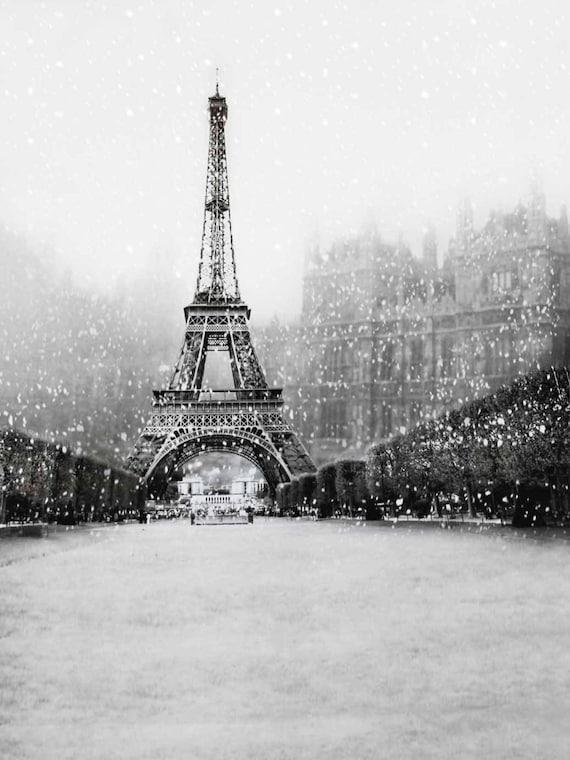Retro White Black Paris Eiffel Tower Photography Studio Etsy