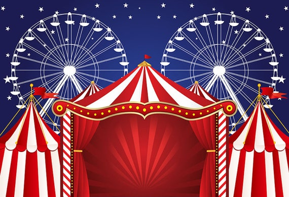 7x5ft Amusement Park Circus Tent Yunyun Carnival Carousel Photo Gallery Booth Birthday Party Wallpaper Studio Wedding Background Cloth familyBackground Cloth