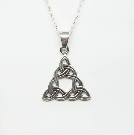 Celtic Necklacesilver Celtic Triple Trinity Knot Etsy