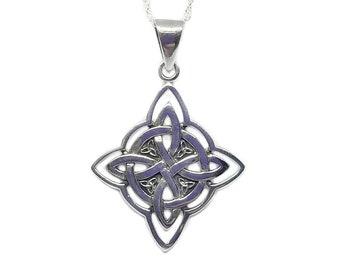 Star Necklace~Silver Celtic Star Pendant~Celtic North Star Necklace~Silver Star Jewelry~Mens Celtic Necklace~Viking Jewelry~Gift for Her