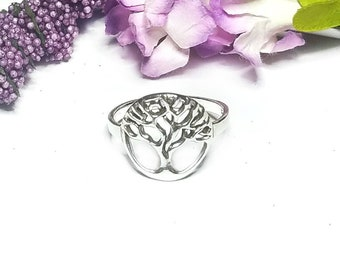 Tree of Life Ring~Sterling Silver Tree Ring~Celtic Tree of Life Ring~Family Tree Ring~Celtic Jewelry~Nature Jewelry~Girlfriend Gift