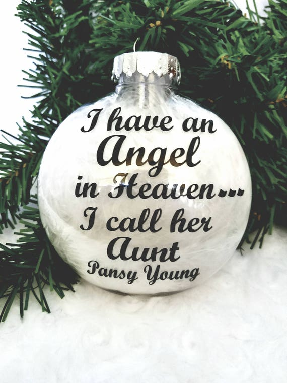 image 0 - I Have An Angel In Heaven Christmas Ornament-Memorial Etsy