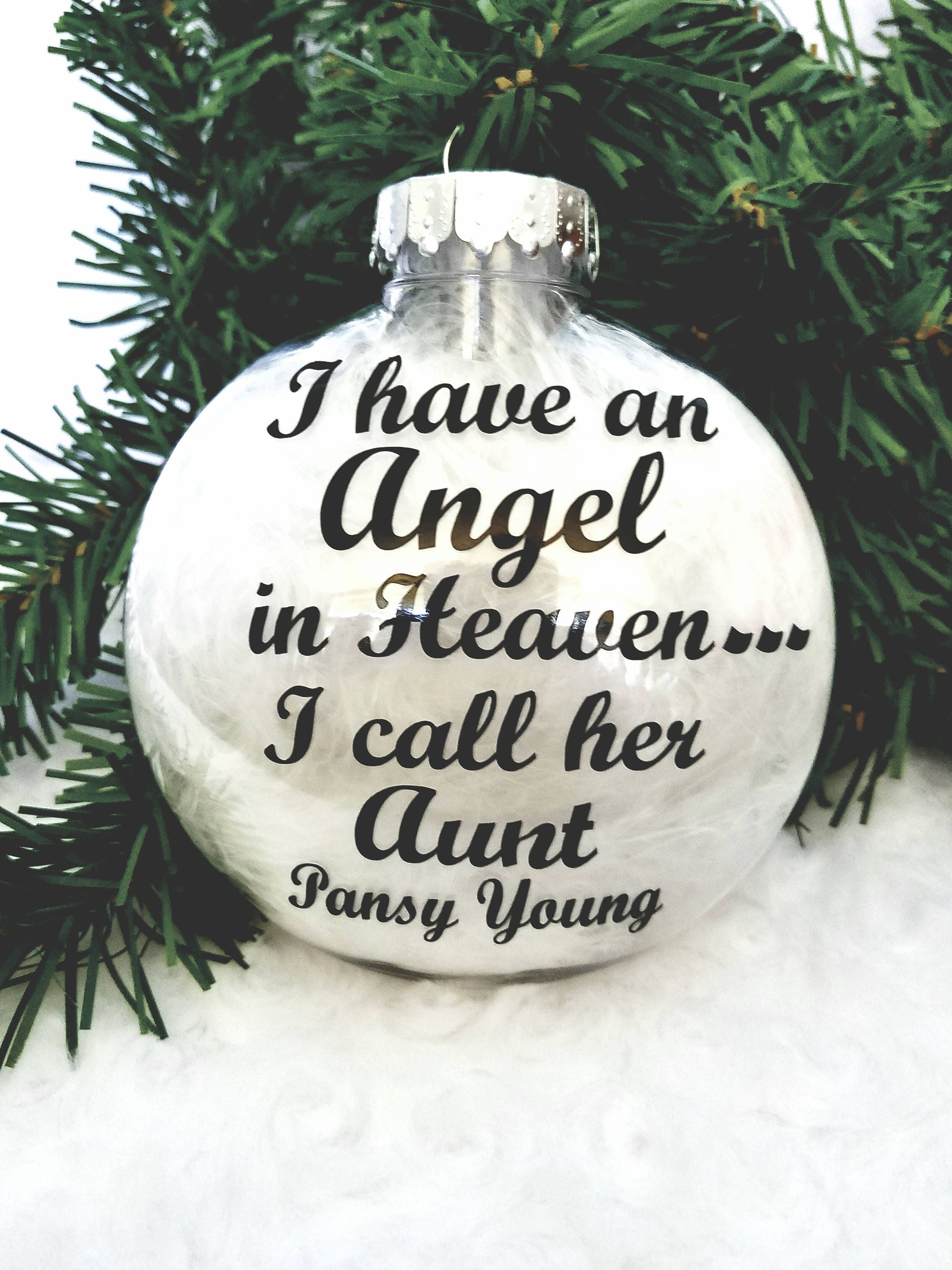 I have an Angel in Heaven Christmas Ornament-Memorial | Etsy