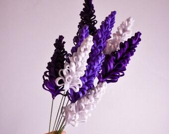 Lupine Stem   DIY Floral Arrangement   Handcrafted Felt Flowers   Year-Round Home Decor
