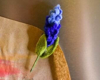 Bluebonnet Magnet   Handcrafted Felt Flower   Texas State Flower