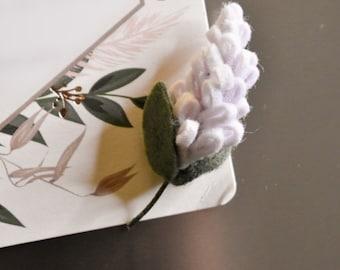 Wisteria Magnet   Handcrafted Felt Flower