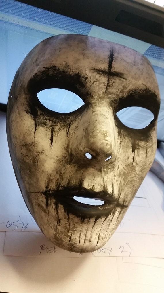 The Purge Anarchy Cross Mask Handpainted Halloween Prop Costume