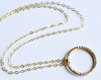 Open Circle Necklace, Karma Necklace, Eternity Necklace, 14KT Gold Filled, Sterling Silver