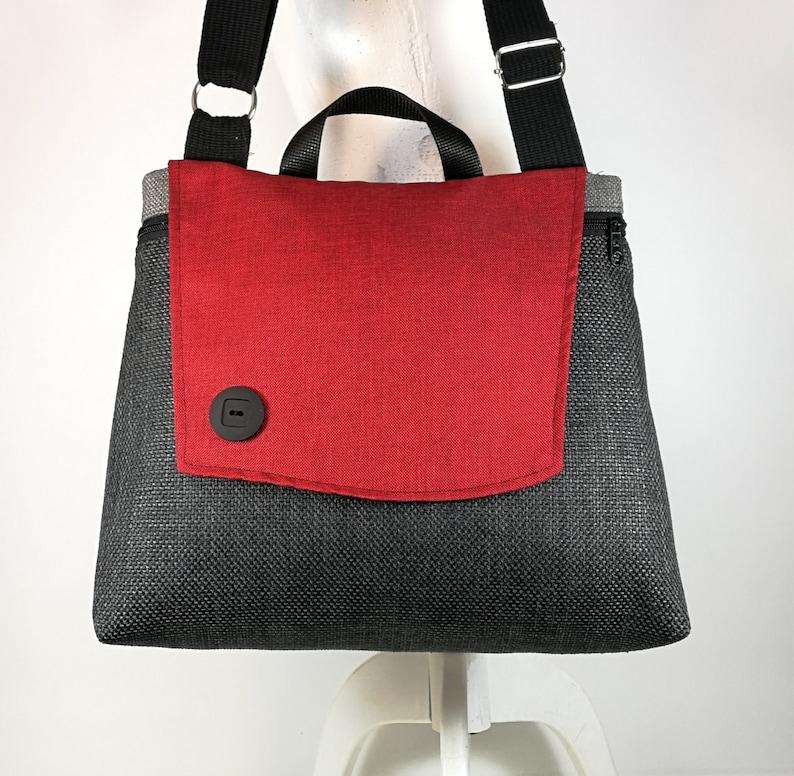 Burgundy gray bag Shoulder tote bag Crossbody bags Messanger bag Designed bag Stylish bag Eco bag Free Shipping Light weight bag