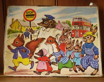 Vintage Tufty Wooden Jigsaw Puzzle