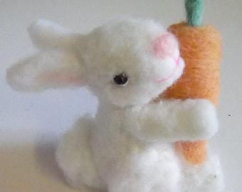 Needle felted rabbit, needle felted bunny, felted bunny, felted rabbit, minituare rabbit, wool felt animals, felting, handmade, Gift for her