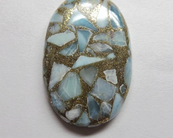 Very Pretty Natural Copper LARIMAR Smooth Oval Shape Cabochon 37x24x5 MM Size Really Awesome Finest Quality