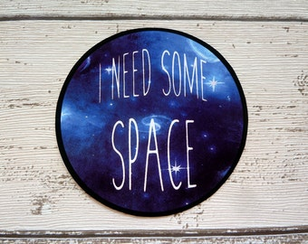 I need some space, Gloss Vinyl Sticker, Watercolor, Watercolour, Illustration, Galaxies, Stars, Astronaut, Alien, Cool, Laptop, Tumblr