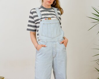 c1772dccb71 FLOP Overalls Vintage 90 s women pants long jeans hipster baggy Dungarees  denim Romper Jumpsuit L Large