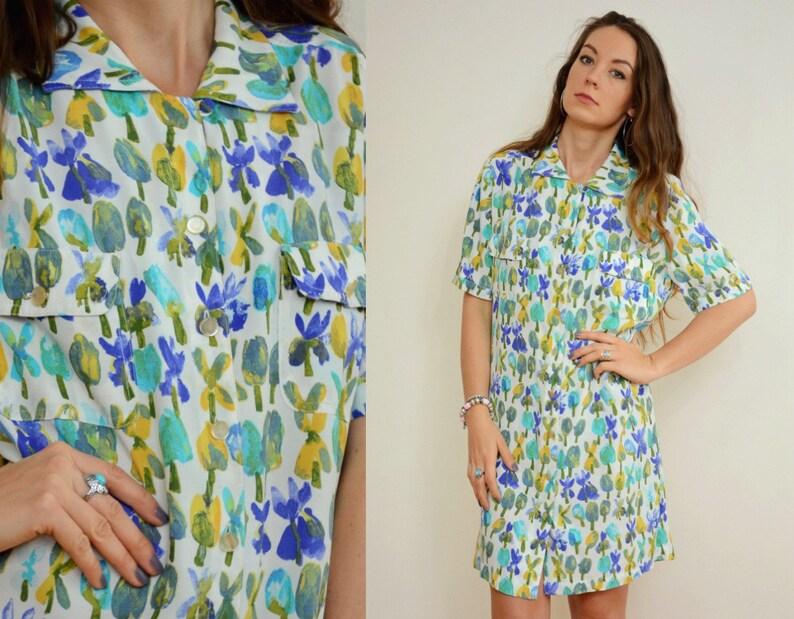Ladies Wrap Summer Dress in floral Viscose print Sizes UK 10 EU 38 UK SELLER