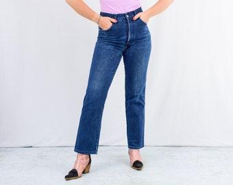 Vintage blue jeans W31 L31 denim pants straight leg button fly L Large