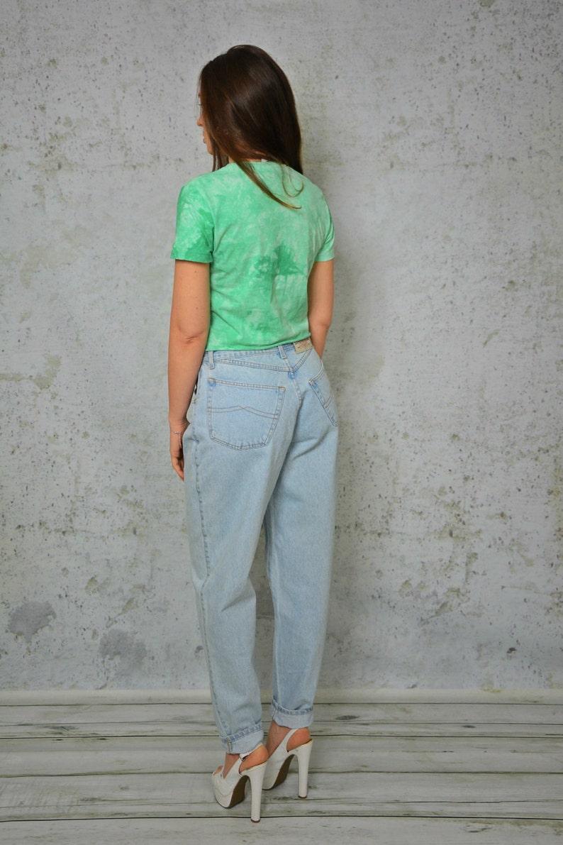 5ed63909d5 Hipster vintage Slouchy del pantalones anchos de talle alto