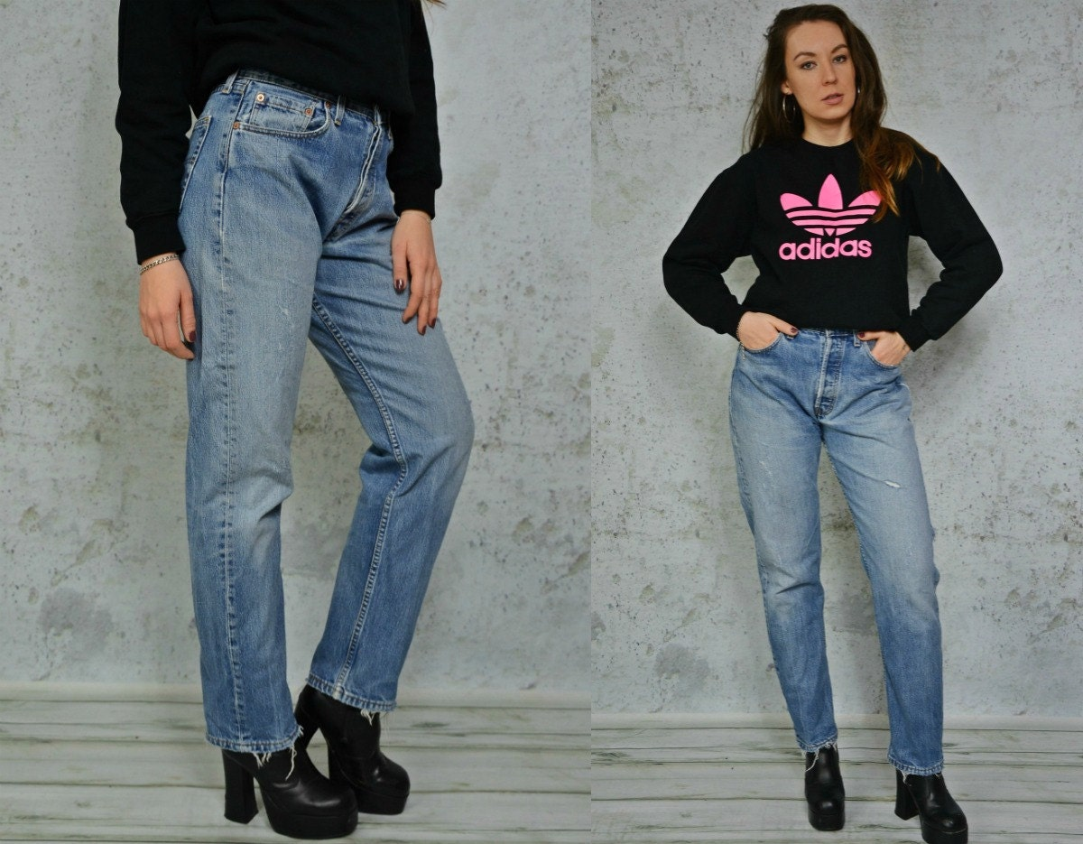 0d074479dd Levis vintage jeans levanta cola pantalones apenado de talle
