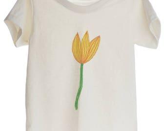 Little Yellow Flower Organic T-shirt for Kids