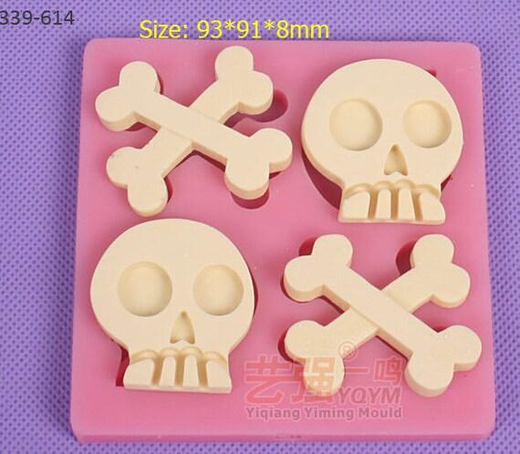 Skull Shaped Chocolate Mould Fondant Decorating Sugar Cake Decorating Tool