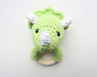 Triceratops-Rattle & Teether