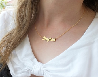 46538606b2fd Name plate necklace