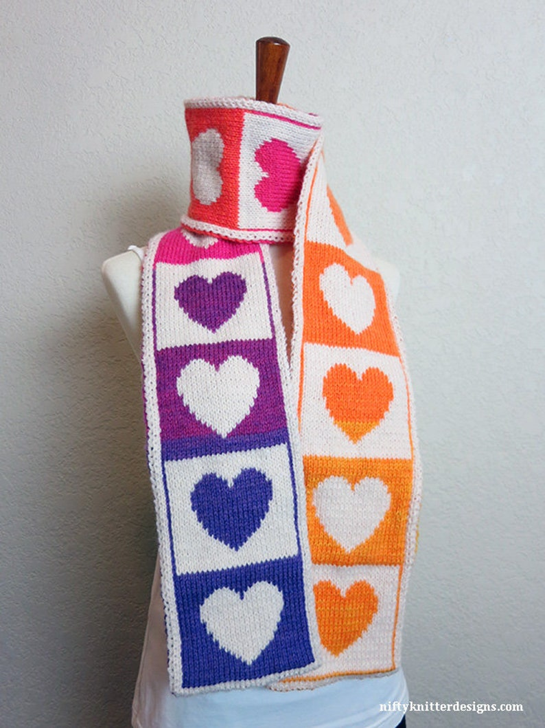 Knitting Pattern  Share the Love Scarf image 0