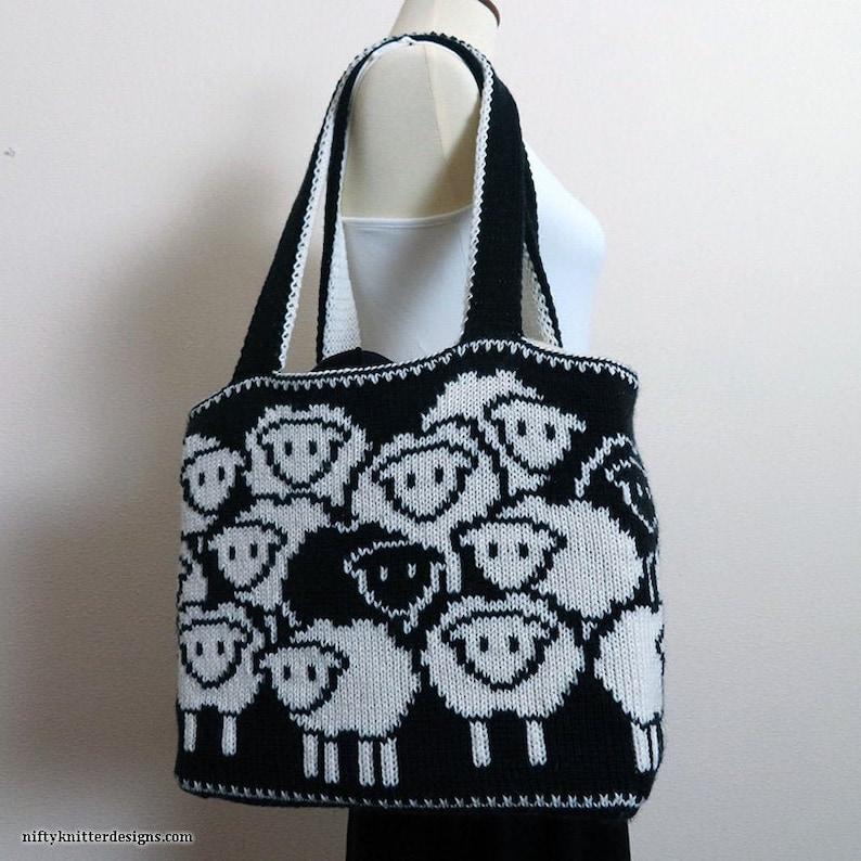 Knitting Pattern  Counting Sheep Bag image 0
