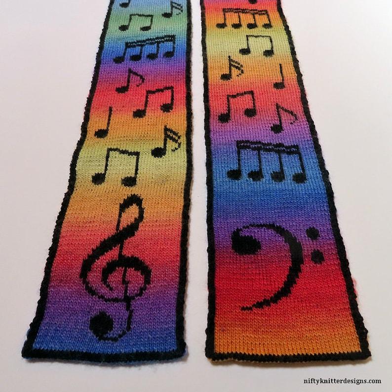 Knitting Pattern  Musical Scarf image 0