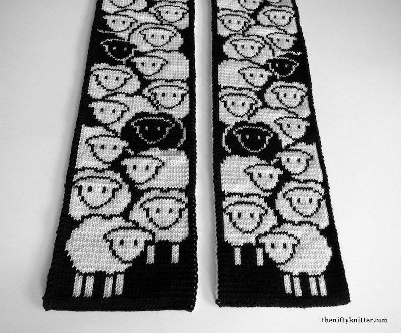Knitting Pattern  Counting Sheep Scarf image 0
