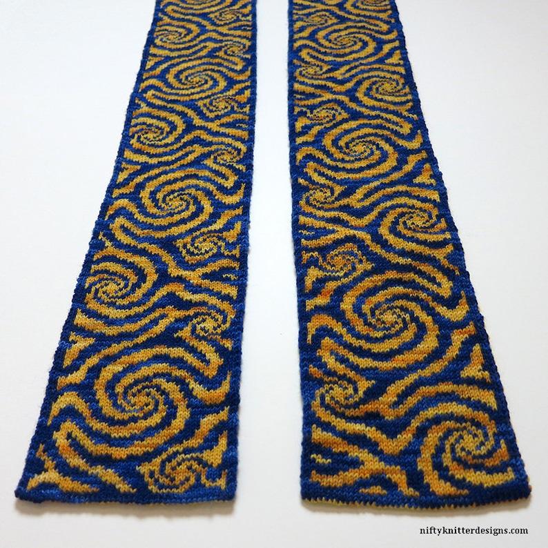 Knitting Pattern  Whirl Scarf image 0