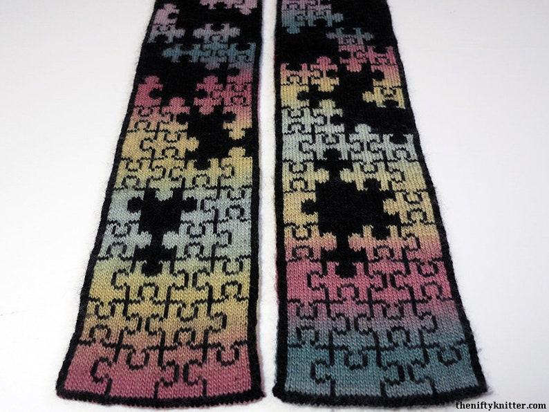 Knitting Pattern  Puzzlin' Scarf image 0