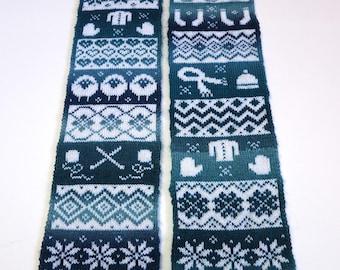 Knitting Pattern - Knit Season Scarf