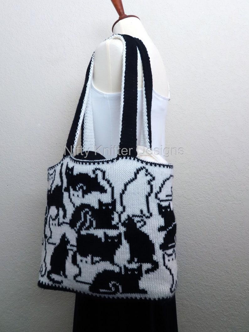 Knitting Pattern  Herding Cats Bag image 0