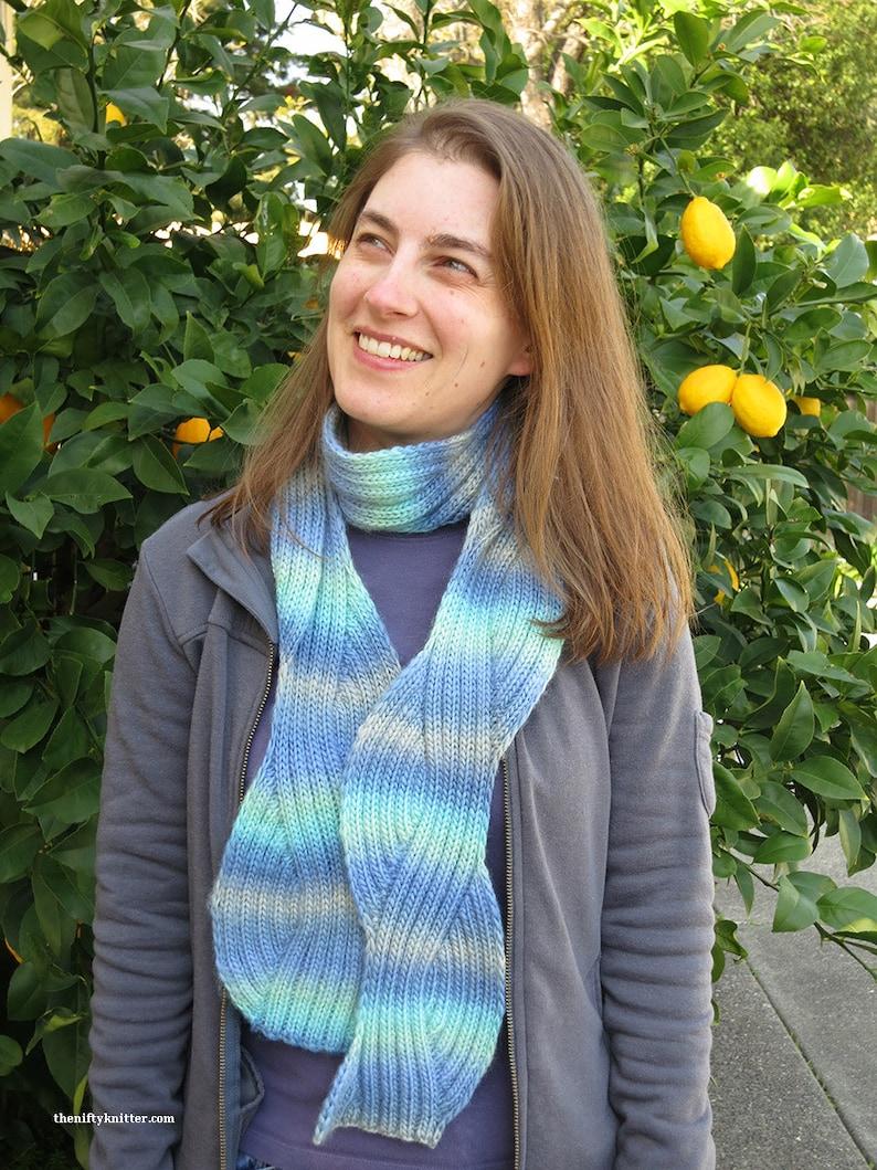 Knitting Pattern  Flow State Scarf image 0