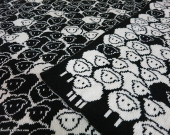 Knitting Pattern - Counting Sheep Blanket