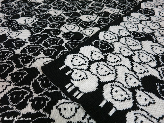 Knitting Pattern Counting Sheep Blanket Etsy