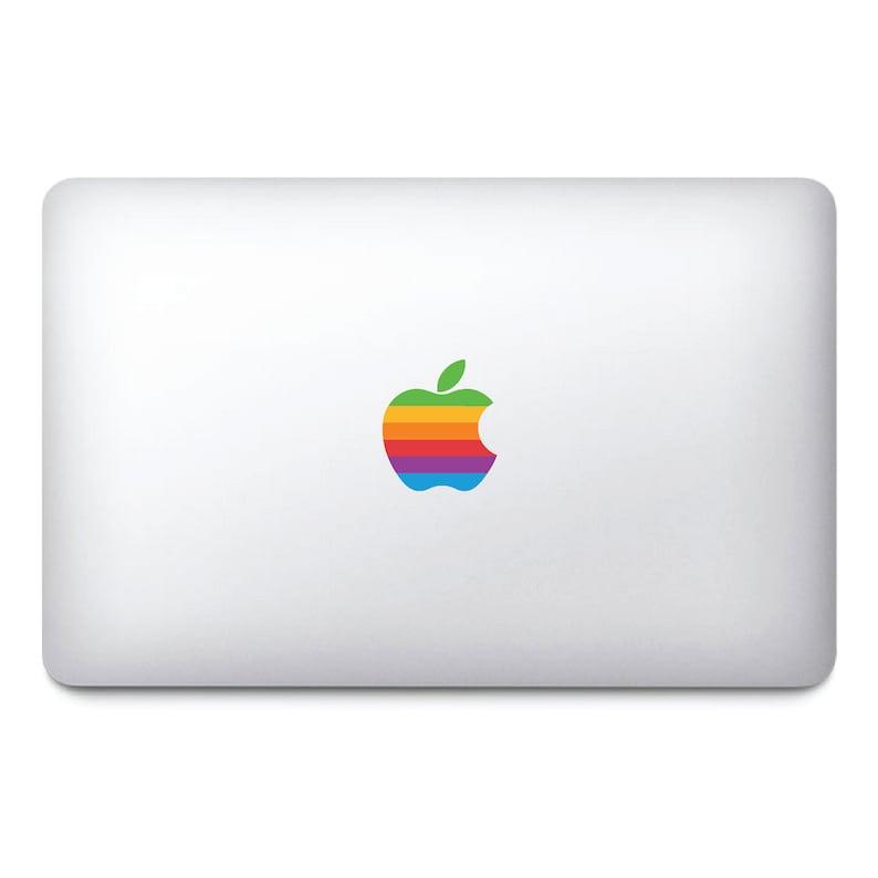 Retro Logo Macbook Stickers on clear vinyl  Laptop stickers  image 0