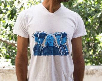 Original Men's t shirt, men tee, Blondie t shirt for men, Pop Art print, 1970's punk music Star, Original Illustration, Rocker music fashion