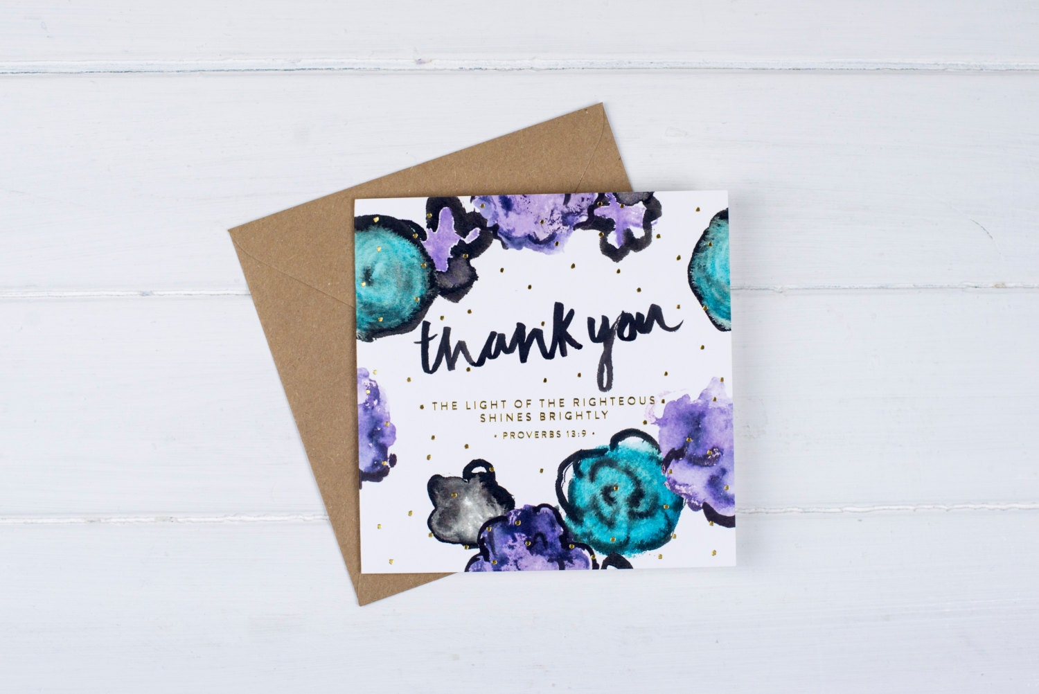 Thank You Bible Verse Cards Happy Mail Thank You Card Etsy